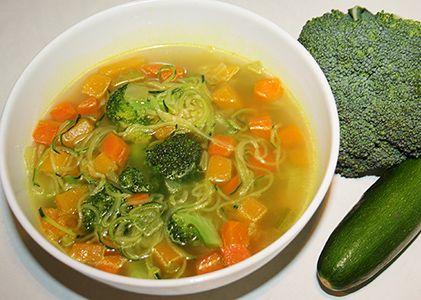 100 Calorie Vegetable 'Zoodle' Soup