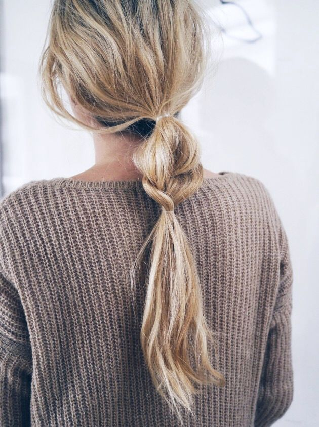 Hair Inspiration: Half + Half Braided Ponytail