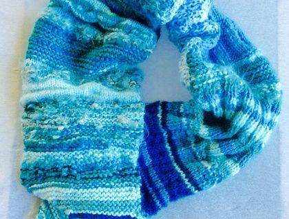 Scarf: Shades of Winter Sea