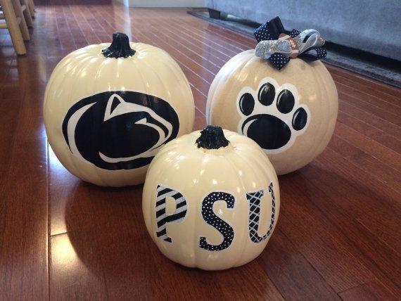 Penn State Pumpkin by ASmidgenOfColor on Etsy