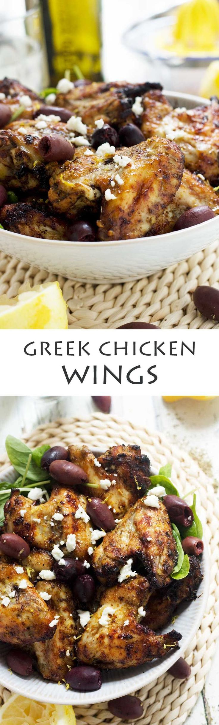 Greek baked chicken wings by Recipe Tin Eats. Perfect Superbowl food!!! Come and see our new website at bakedcomfortfood.com!