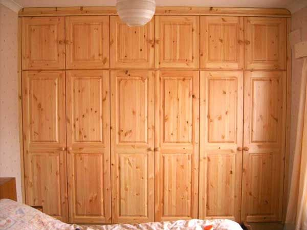 Wall Celling Cabinet | Fitted pine wardrobe, wall to wall fitting - Wicklow and Dublin ...