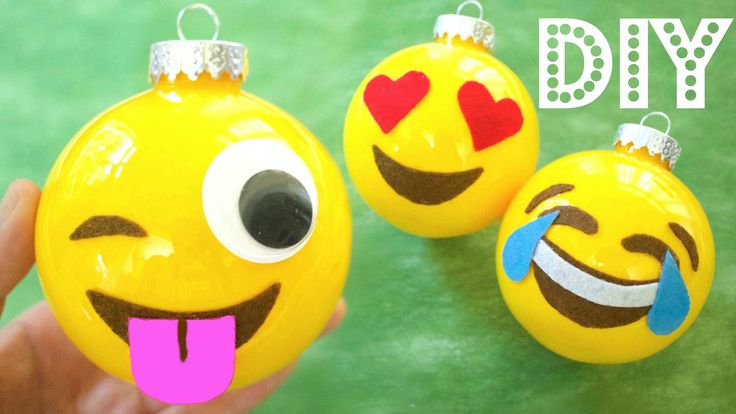 How to Make Christmas Ornaments: Emojis   DIY Christmas Decorations