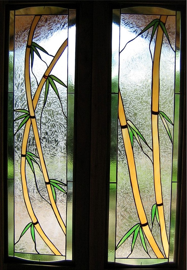 Bamboo art glass window stained glass pinterest for Simple window design
