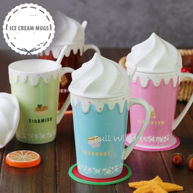 Leuke ijs keramische mok Pretty cartoon stijl melk cup in Leuke ijs keramische mok Pretty cartoon stijl melk cup van Mokken op AliExpress.com | Alibaba Groep