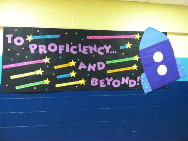 State Testing Banners. I will be going to school to make this for this week. Awesome!