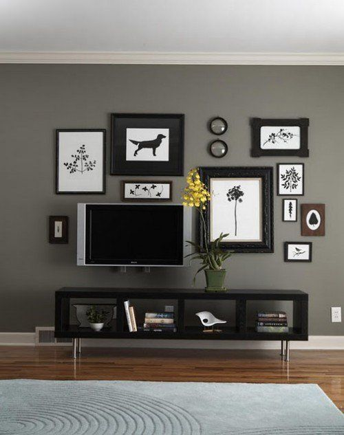 34 id es de d co pour accrocher des photos au mur moderne armoires et galeries. Black Bedroom Furniture Sets. Home Design Ideas