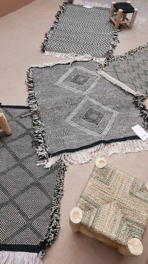 Image of Moroccan Small Kilim Rug - Diamonds Pattern Flatweave #2
