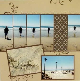 Beach Scrapbook layout idea