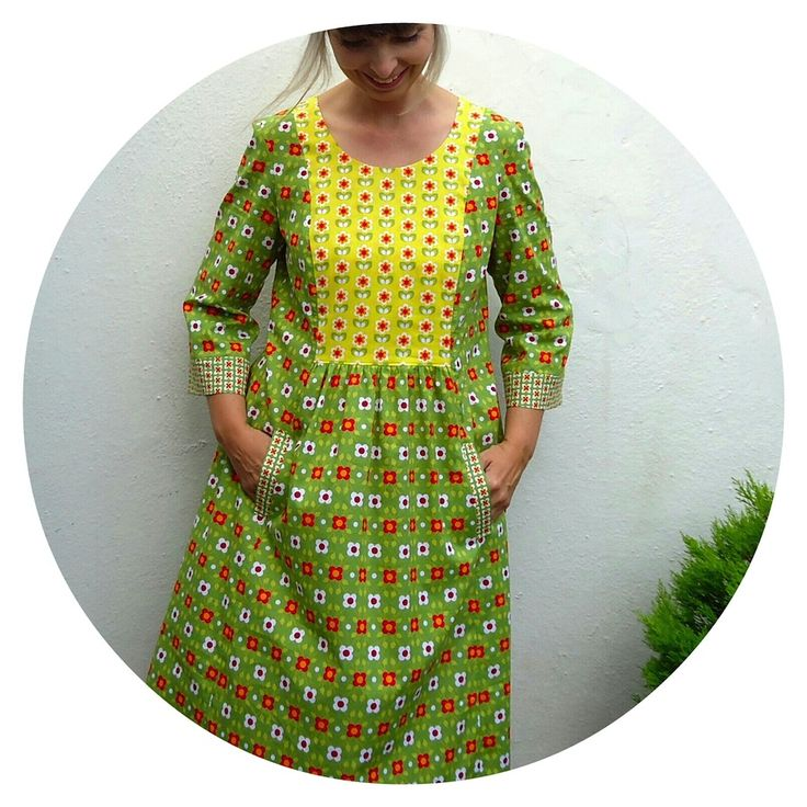 The Cinema Dress, new from Liesl + Co made by Ivy Arch in Soft Cactus organic cottons.