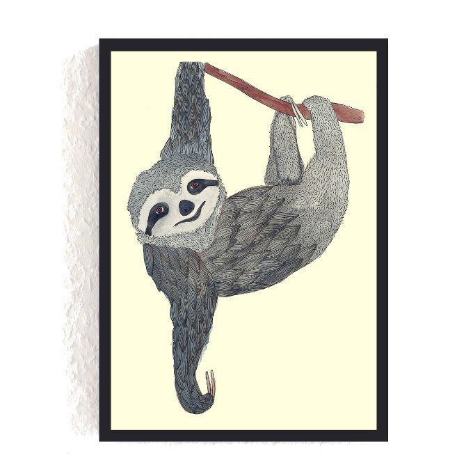 Print *Faultier* #faultier #sloth #illustration