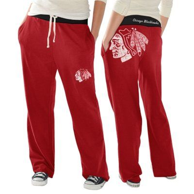 Chicago Blackhawks Ladies Recruit Fleece Pants - Red Fans Edge