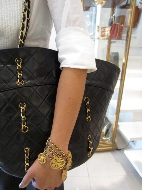 Chanel Shopping Tote & Bracelet