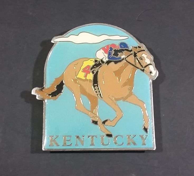 Kentucky Derby Horse Racing Track Enameled Horse #4 with Rider Arch Shaped Fridge Magnet https://treasurevalleyantiques.com/products/kentucky-derby-horse-racing-track-enameled-horse-4-with-rider-arch-shaped-fridge-magnet #Kentucky #KY #KentuckyDerby #Derby #Horses #Colts #Racing #Races #Track #Wagering #Betting #Fridge #Refrigerator #Magnets #Collectibles #Travel #Tourism #Enamel #Bets