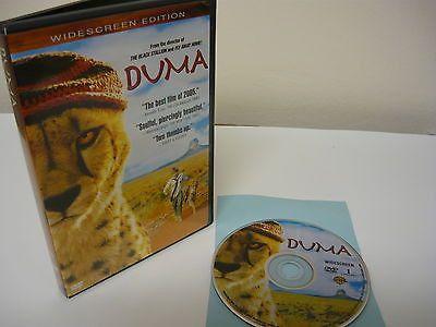 Duma DVD (WIDESCREEN) Childrens Action Adventure Hope Davis Alexander Michaletos