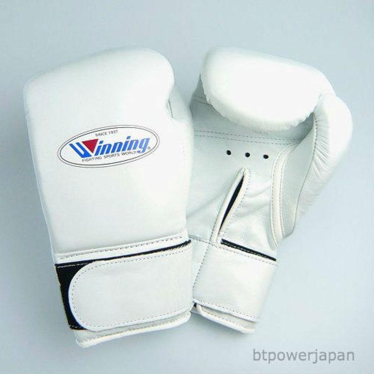 F/S Winning Boxing Gloves 10oz Professional type Velcro MS-300-B White #Winning