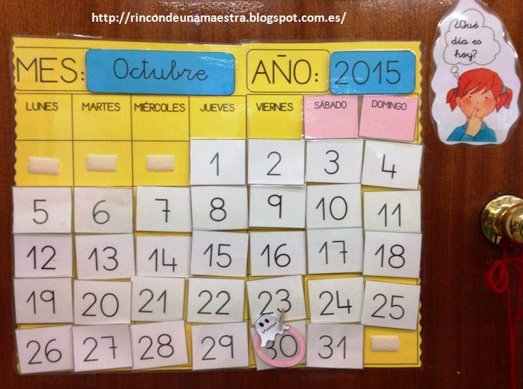 Rincón de una maestra: Calendario mensual