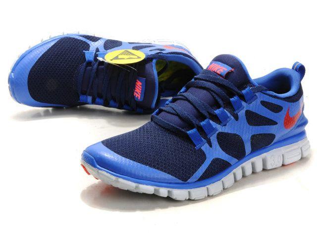 Herren Nike Free 3.0 V3 Schuhe - blau, rot