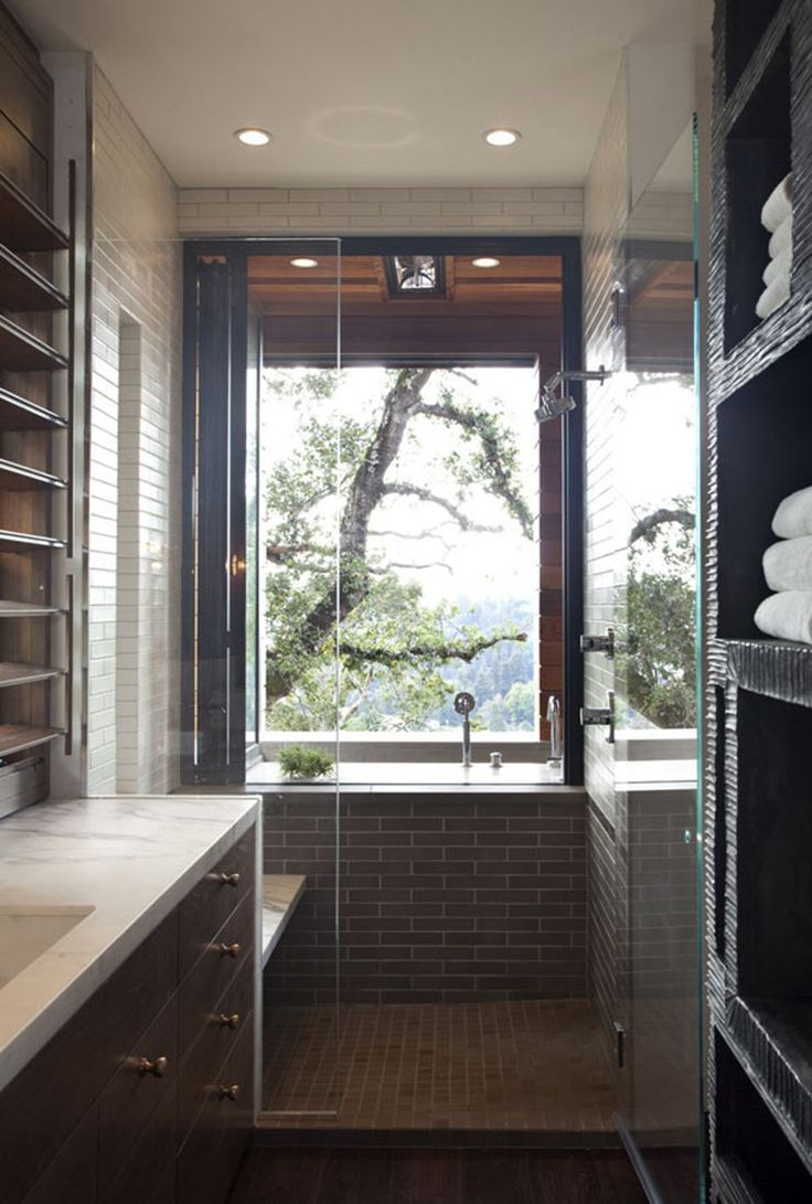 92 best bathroom ideas images on pinterest bathroom ideas room earth themed bathroom with the view of nature from a large window