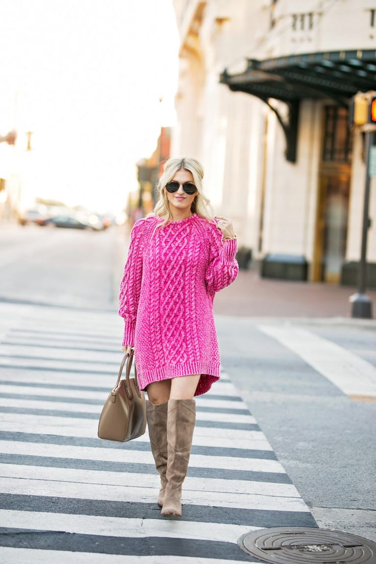 Pink Sweater Dress | Chronicles of Frivolity