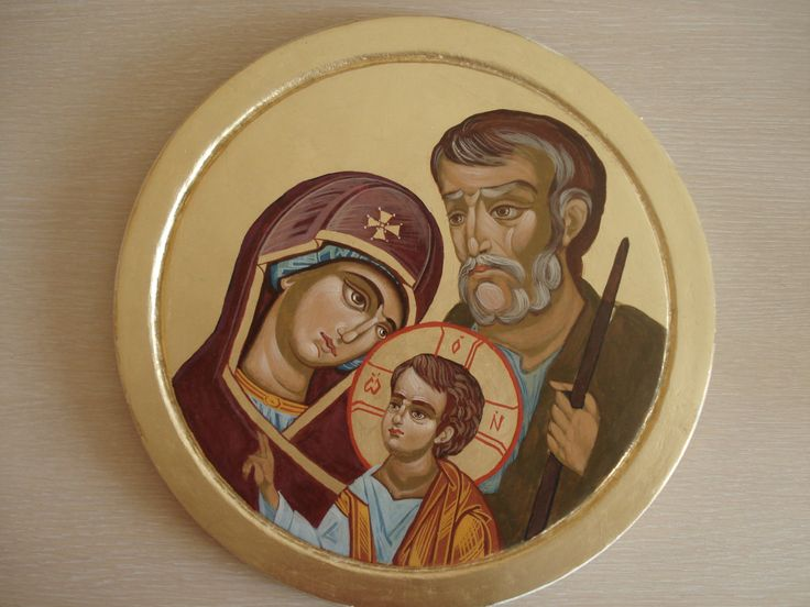 Holy Family, Byzantine icon,Orthodox icon,Handpainted by temperaart on Etsy
