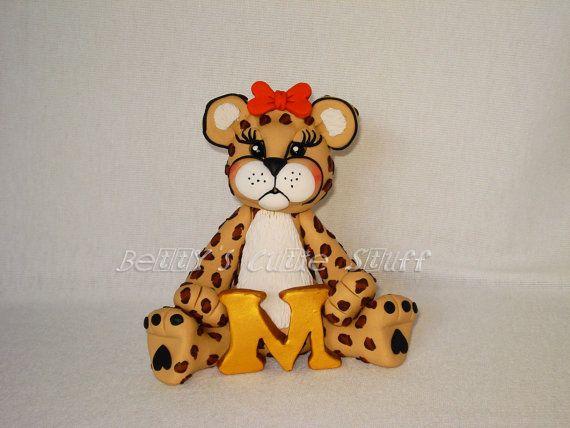 Custom Cheetah Cake Topper by bettyscutiestuff on Etsy