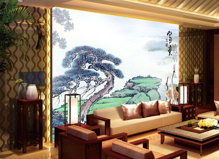 17 best images about papier peint asiatique on pinterest vintage style jade and portrait. Black Bedroom Furniture Sets. Home Design Ideas