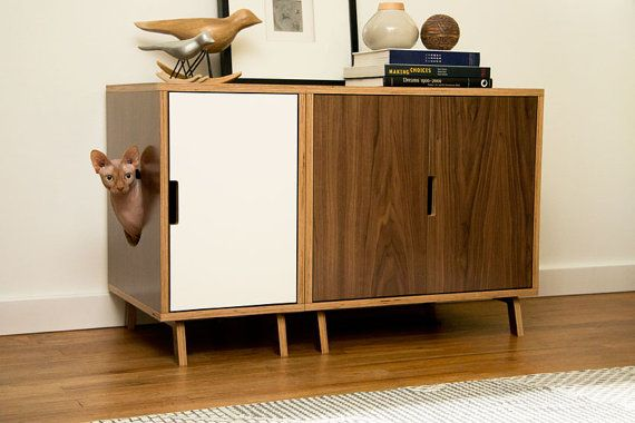 Modular Cabinet Set // Mid Century Modern Pet Furniture // Cat Litter Box Cover // Pet House // Credenza