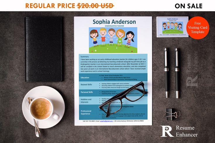 80% OFF SALE Kindergarten Teacher Resume Template Resume