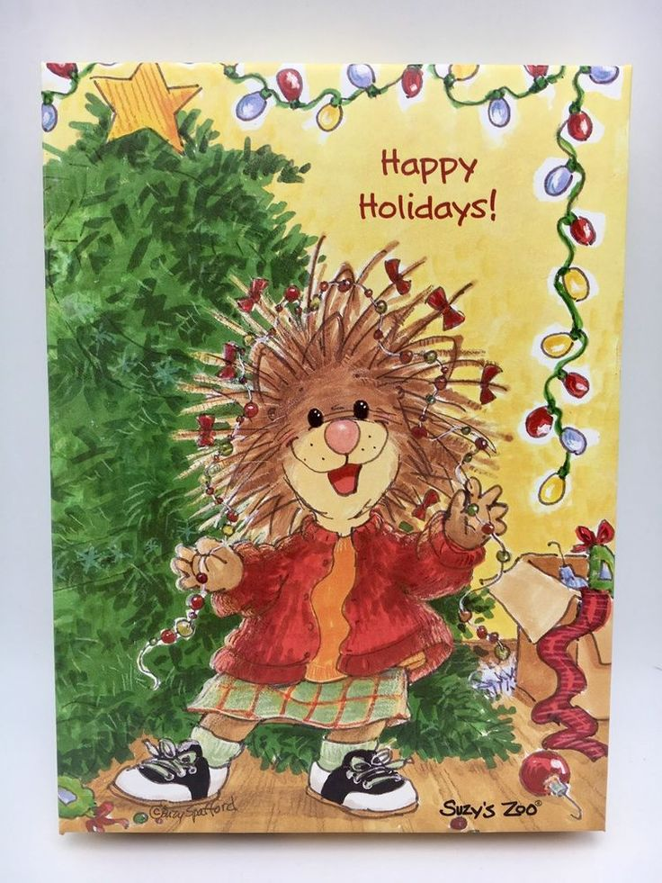 Suzy's Zoo Boxed Christmas Cards 12 Cards Envelopes
