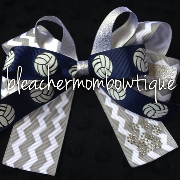 Volleyball!  Follow us on Instagram and Etsy @bleachermombowtique for custom spirit and sports bows!