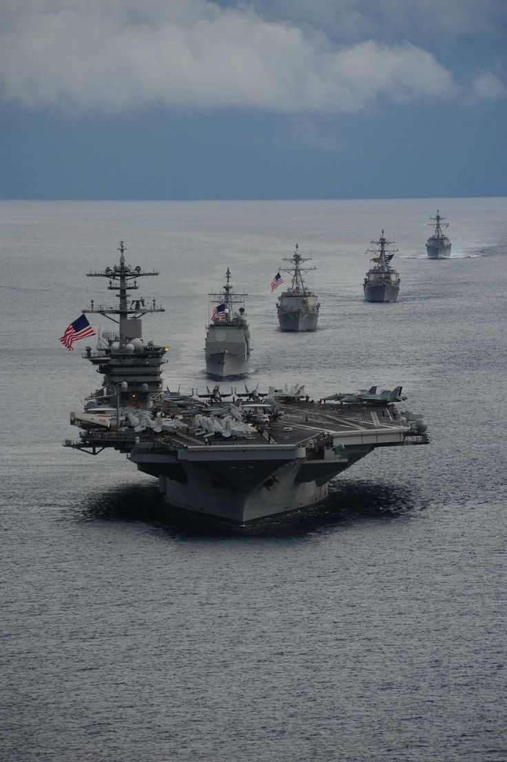 US Navy Carrier Formation