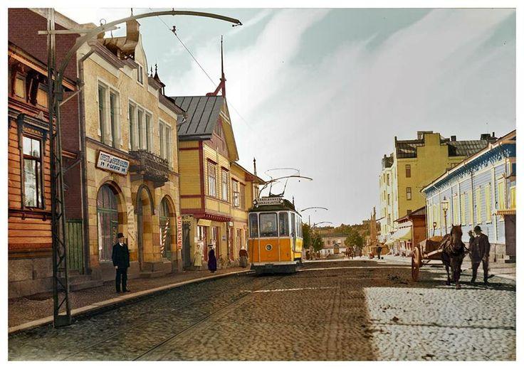 Year 1909. Humalistonkatu, Turku, Finland