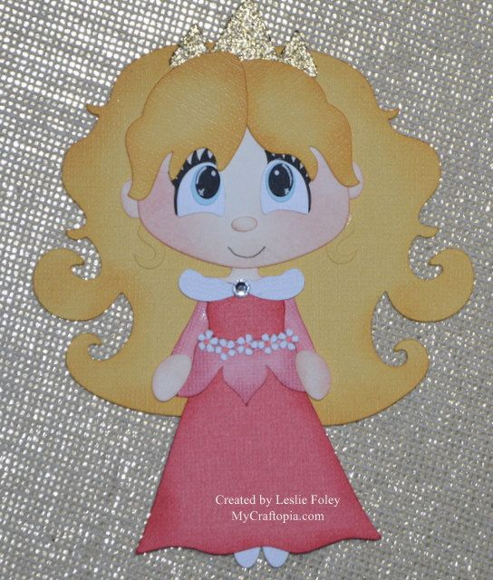 Disney Princess Sleeping Beauty Premade Scrapbooking Embellishment Paper Piecing
