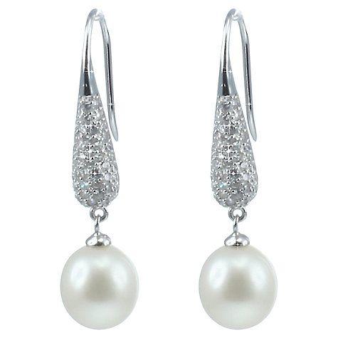 Buy Lido Pearls Pave Cubic Zirconia Freshwater Pearl Drop Earrings Online at johnlewis.com
