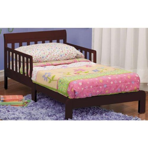 Strong & #sturdy wood construction, guard rails included, low to the ground, fits #most standard crib mattresses, easy assembly. Assembled: 54 x 32 x 23.