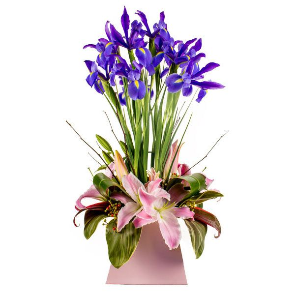 Iris flowers with perfumed orientals. How lovely!