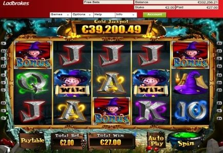 LCB Member Wins 332,208 Gold Progressive Jackpot on The Pig Wizard! - 23rd of Dec 2014