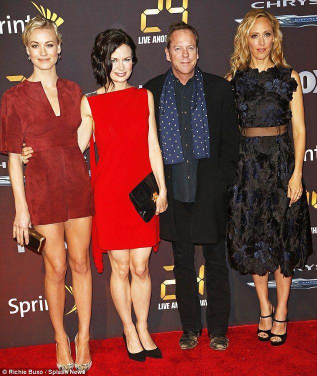 Back for more: The acting vet with co-stars Yvonee Strahovski, Mary Lynn Rajskub and Kim R...