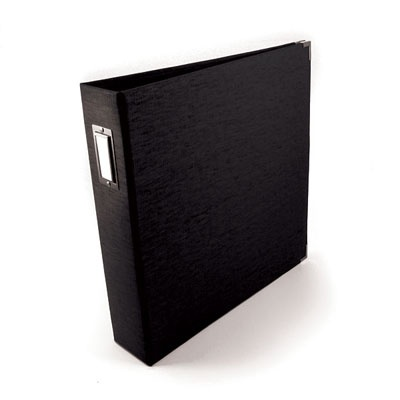 Best 12X12 Ring Linen Album Onyx Onyx Memory Keepers We R 400 x 300