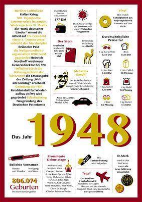 Geschenk Zum 70 Geburtstag Jahrgang 1948 Chronik Originelle