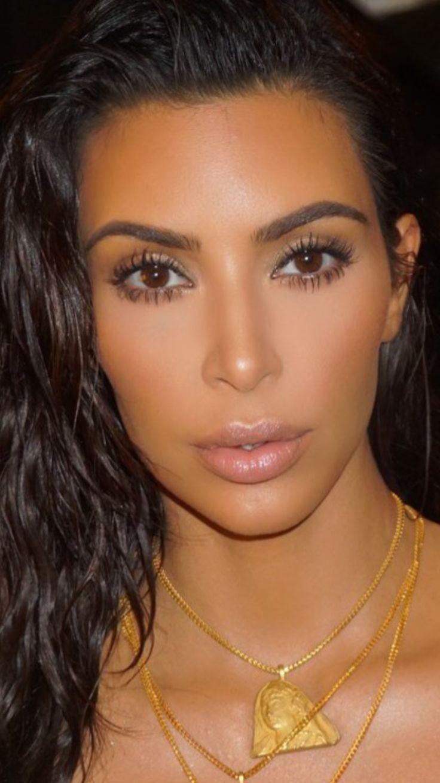 Kim Kardashian makeup, makeup by Mario Dedivanovic
