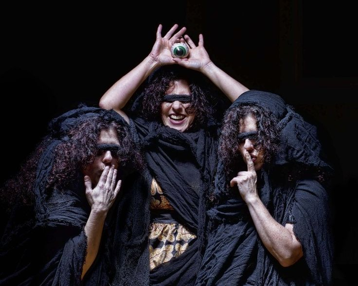 The Graeae by CPJPhoto.deviantart.com.  The photo depicts the Graeae, three women who shared one eye. Perseus stole the eye from them on his first step on the path to killing Medusa.