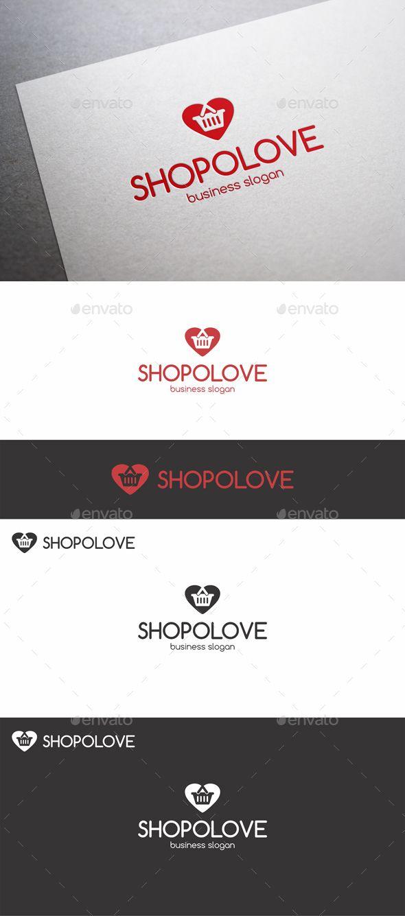Shopping Love Cart Logo Template Vector EPS, AI, CDR. Download here: http://graphicriver.net/item/shopping-love-cart-logo/14113588?ref=ksioks