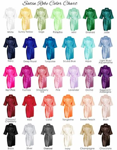 Blank Satin Robe Available in 25+ Colors! - Blank Bridal Party Robes