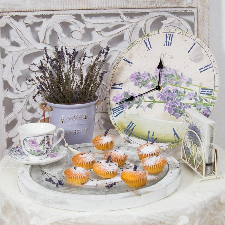 Small Lemon-Cakes and Lavender tea sets will enhance the taste of Life! How elegant purple is!