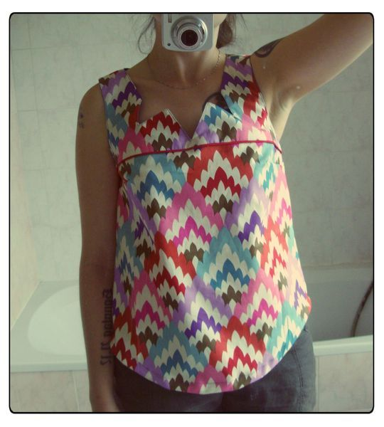 Beautiful top using Stella-76 White from the Petal Pusher collection.