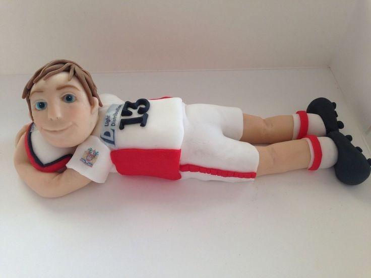 Handmade edible Football/rugby sports Player figure cake topper/cake decoration