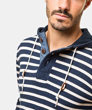 Striped sweater Homem Outono Inverno | QUEBRAMAR - Shop Online