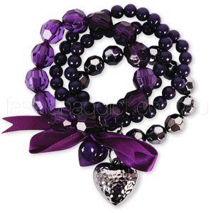 I heart purple...: Style, Fashion Bracelets, Latest Fashions, Beaded Bracelets, For Women, Purple Passion, Purple Bracelets, Jewelry, Accessories